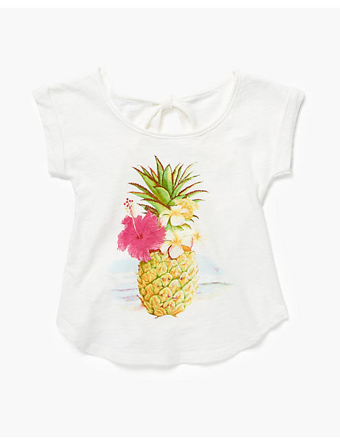 PINEAPPLE TEE, SNOW WHITE