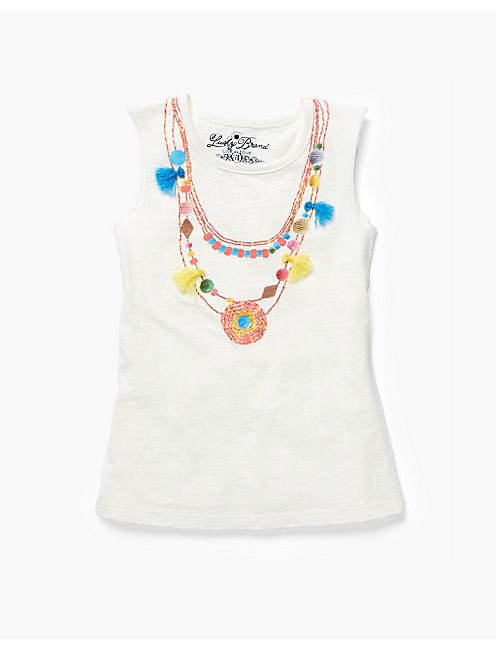 NECKLACE MUSCLE TEE, WHITE