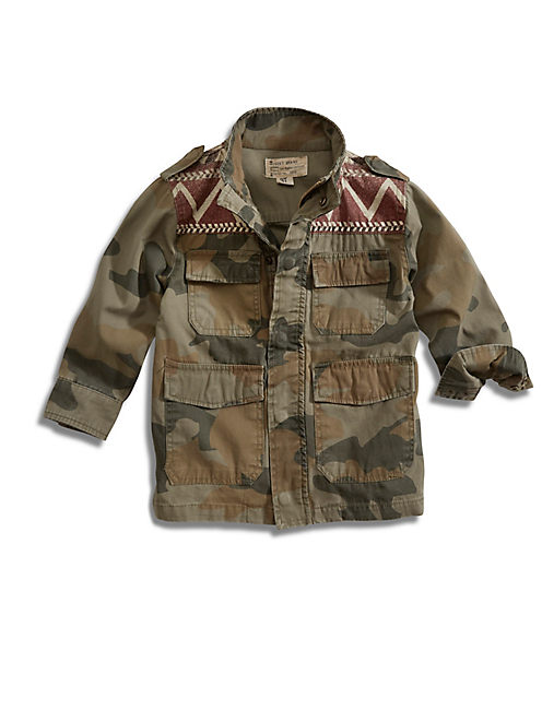 MILITARY CAMO JACKET, OPEN GREEN