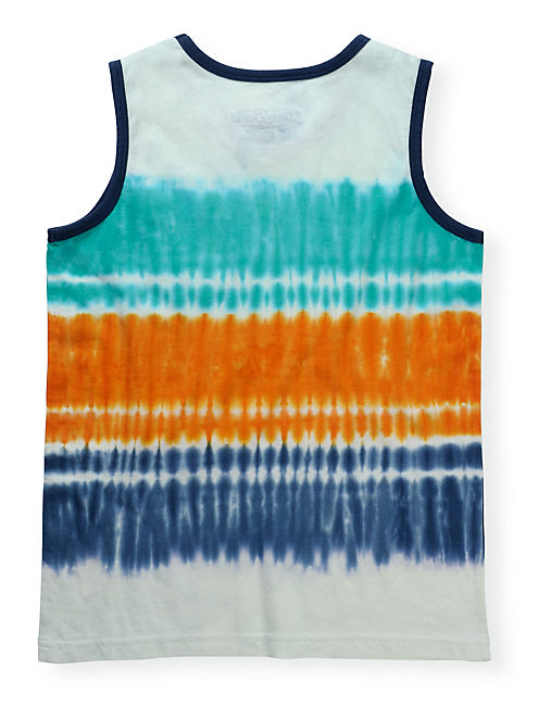 SUNSET TIE DYE TANK, LIGHT BEIGE