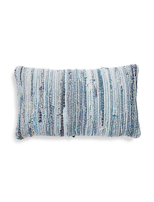 16X24 BLUE TEXTURED PILLOW,