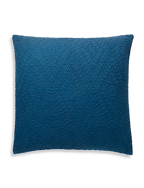 DIAMOND MATELASSE EURO SHAM, MEDIUM DARK BLUE