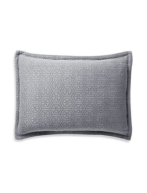 MEDALLION GREY STANDARD SHAM,