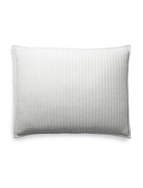 RIBBED WHITE STANDARD SHAM,