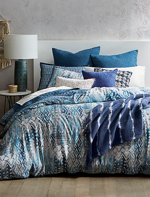 SIENNA FULL/QUEEN DUVET SET, RINSE