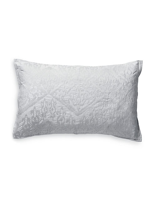 16X26 IKAT EMBROIDERED PILLOW,