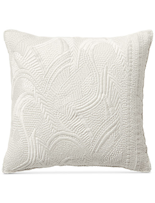 16X16 HEAVY EMBROIDERED DECORATIVE PILLOW,