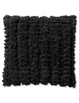 18X18 SHAGGY DECORATIVE BLACK PILLOW
