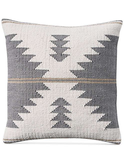 18X18 GREY KILIM DECORATIVE PILLOW,