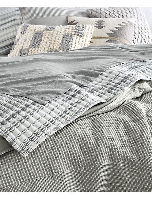 Lucky Waffle Stripe Comforter Set