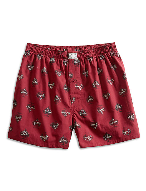 ACE OF SPADES BOXER, DARK RED