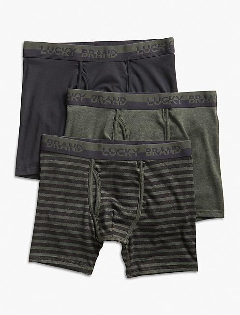 3 PACK STRETCH BOXER BRIEF, EDI DEFAULT