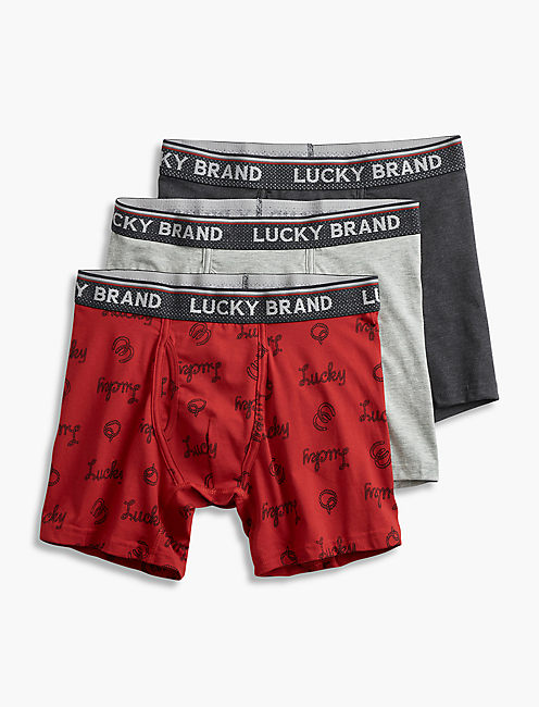 LUCKY HORSESHOE 3 PACK BOXER,