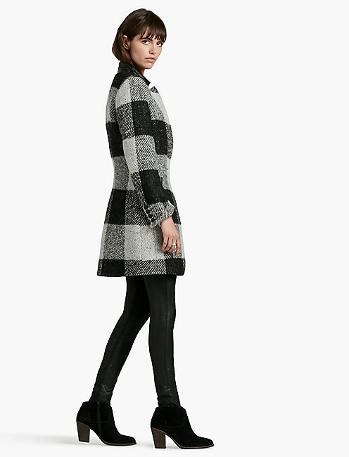 Lucky Wool Checkered Coat