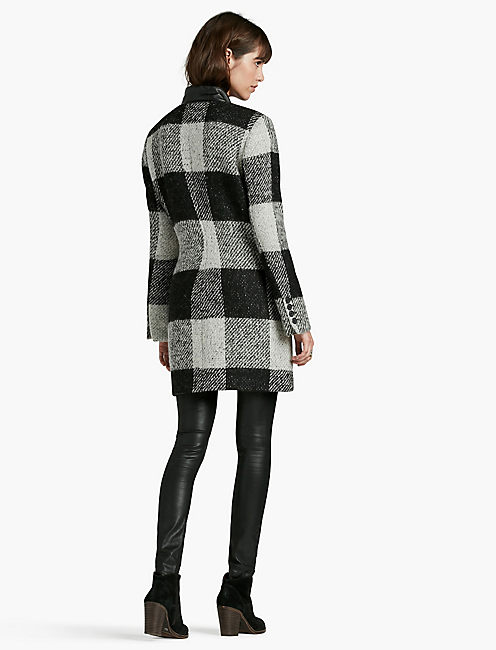 WOOL CHECKERED COAT,