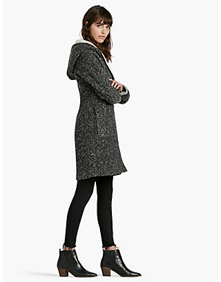 LUCKY CHARCOAL SHERLING COAT