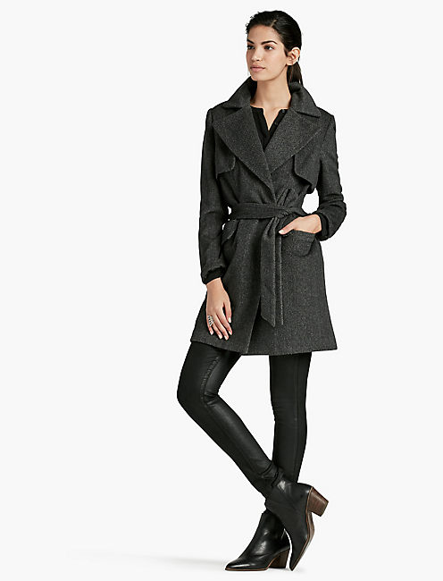 LUCKY MIDTOWN WRAP COAT