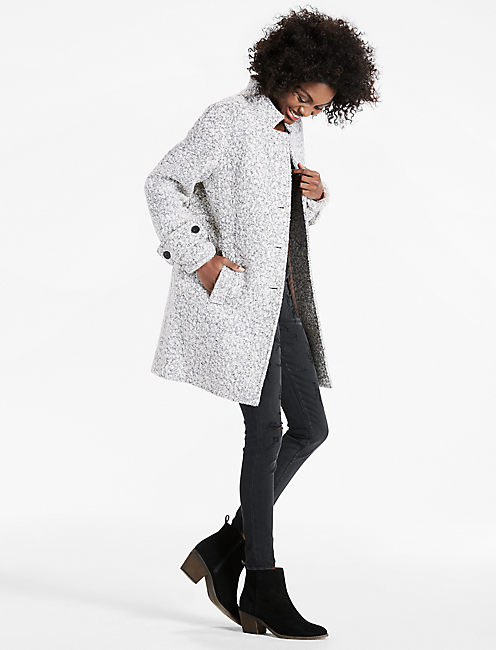 Lucky Light Grey Wool Coat