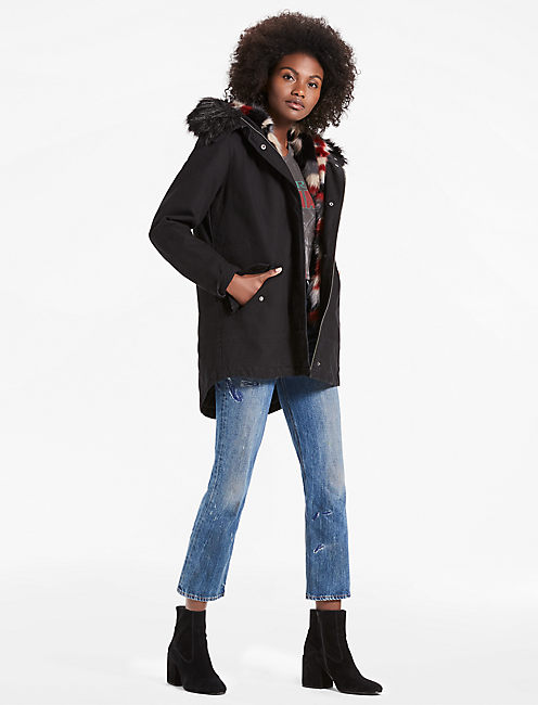 Lucky Parka Jacket With Removable Faux Fur Vest