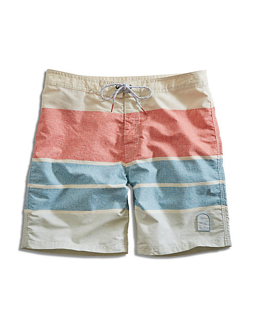 KATIN STRIPES BOARD SHORT, 636 RED