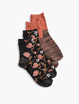 2 Pack Floral Sock