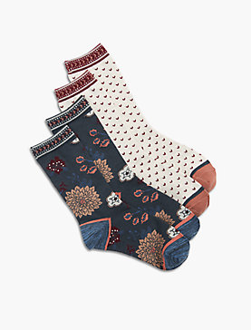 2 PACK FLORAL DITSY SOCK