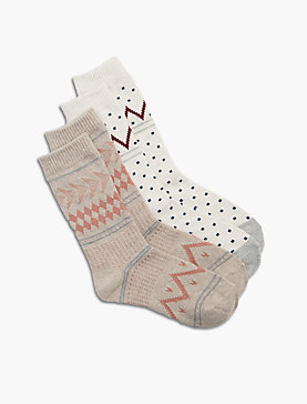 2 PACK PRINTED SOCK