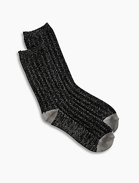 Lurex Rib Boot Sock