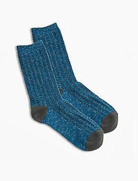 Lurex Rib Boot Sock