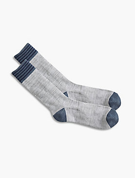 Stripe Athletic Crew Sock