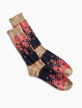 Snowflake Crew Socks