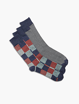 2 PACK PATCHWORK SOCK