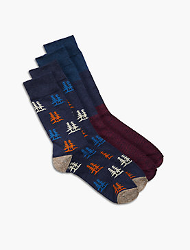 TREE PRINT 2PACK SOCKS