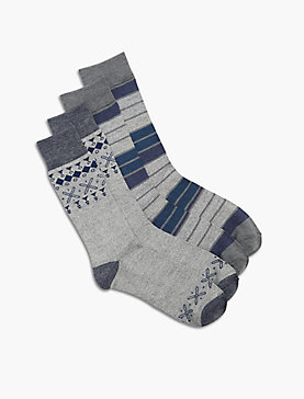 2 PACK AZTEC COLORBLOCK SOCKS