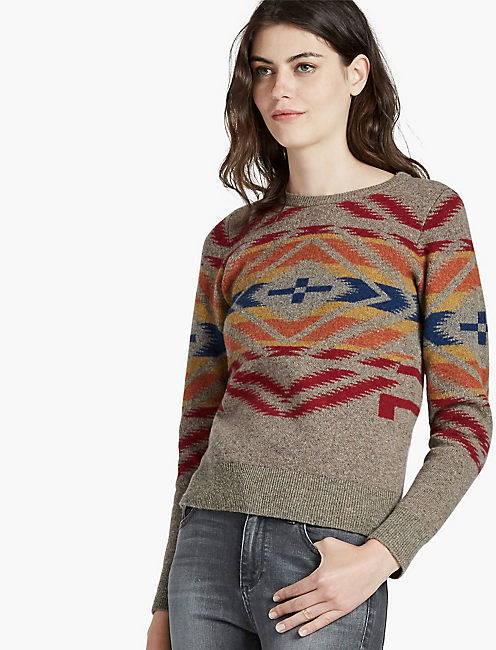 PENDLETON SUNSET CROSS PULLOVER, BROWN MULTI