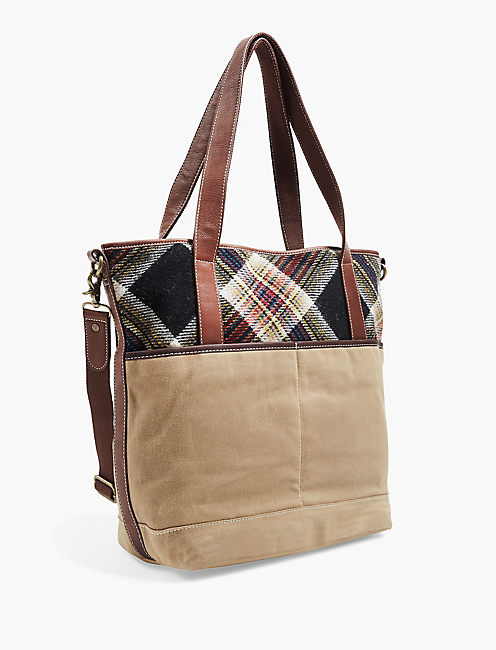 LUCKY CAMP STRIPE TOTE