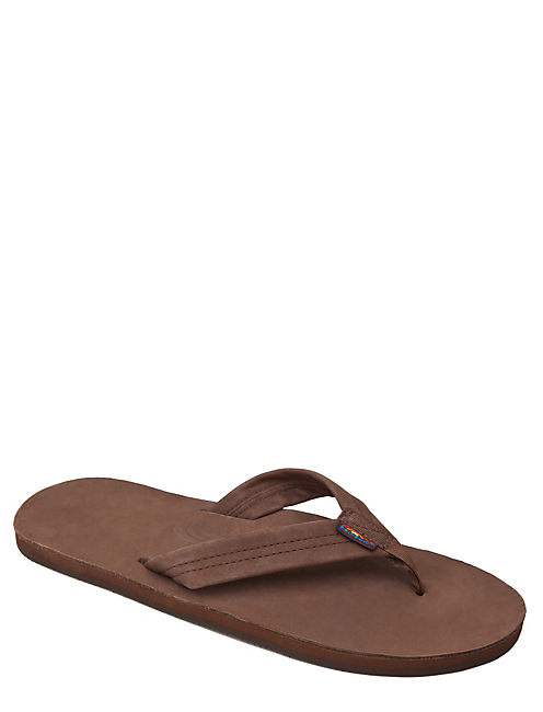 RAINBOW FLIP FLOPS, DARK BROWN