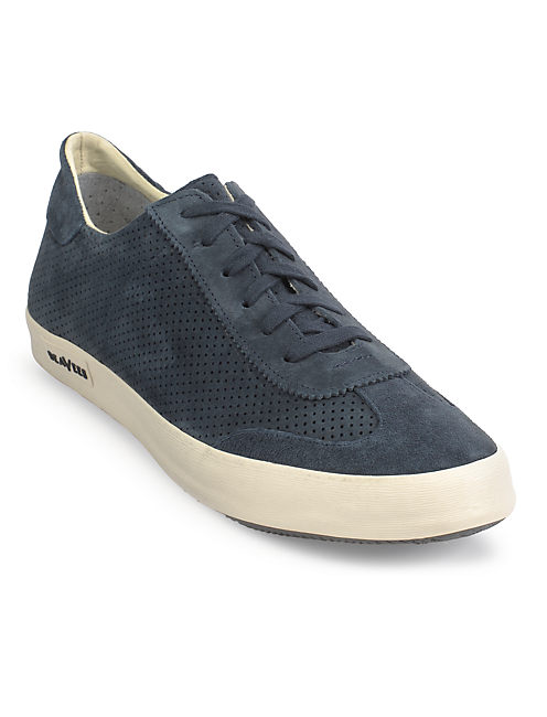 M COURT SUEDE TENNIS SHOE, NAVY
