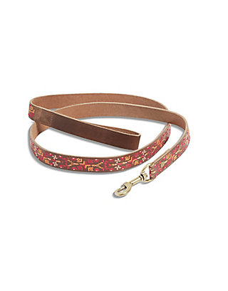 LUCKY AZTEC EMBROIDERED LEASH