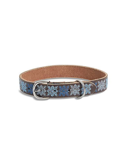 INDIGO EMBROIDERED COLLAR,