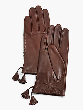 TASSEL LEATHER GLOVES