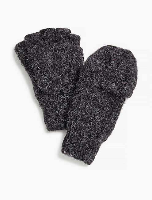 CABLE FLIP MITTEN,