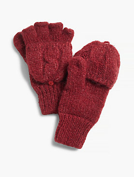 CABLE FLIP MITTEN