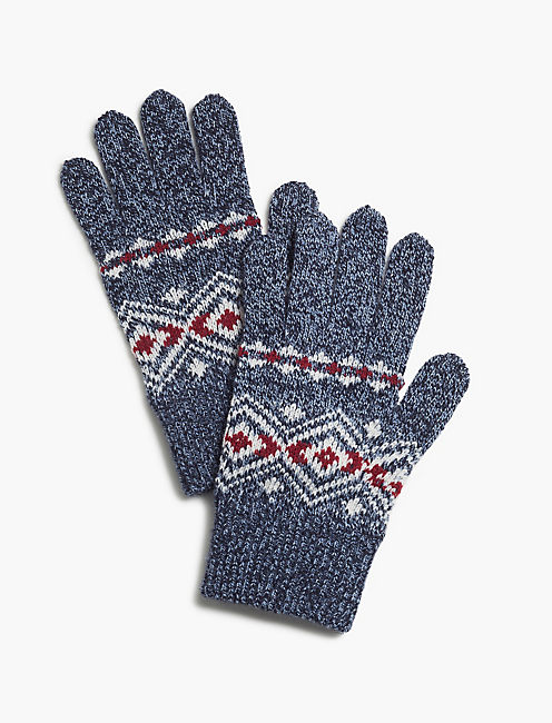 DIAMOND KNIT GLOVES,