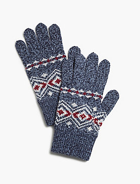DIAMOND KNIT GLOVES