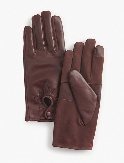 MOTO LEATHER GLOVE, BURGANDY