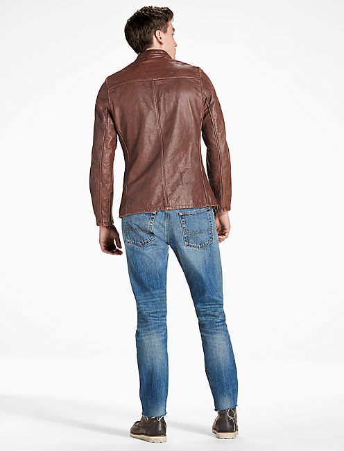 SCHOTT x LB MERCER JACKET, BROWN