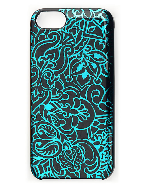 BLUE SCROLL PRINT PHONE, BLUE