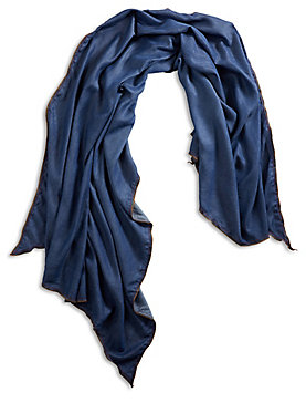 DARK CHAMBRAY SCARF