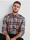 Western Flannel Shirt, RED PLAID